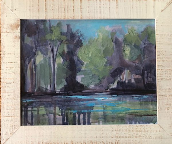 Reflections - whie wood frame - 17 1/2 x 14 1/2